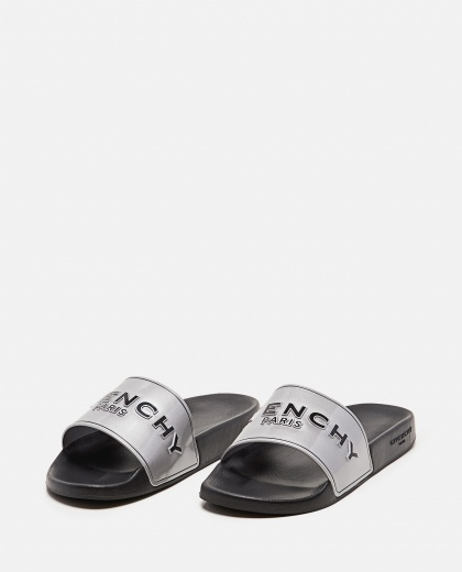 Metallic rubber GIVENCHY PARIS sandals  Men Givenchy 000301730044315 2