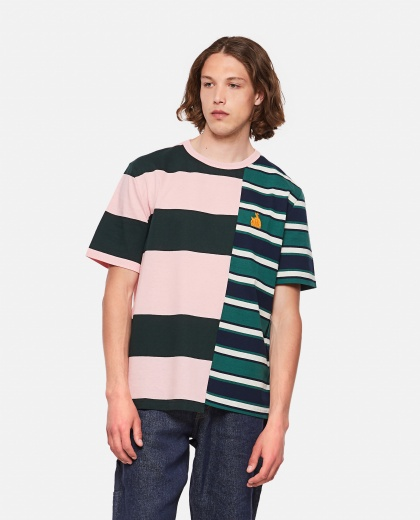 Asymmetrical Striped T-Shirt Men Lanvin 000309340045377 1