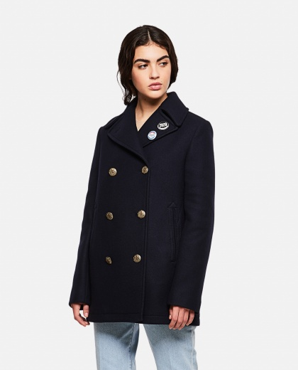 Double-breasted coat in wool Women Golden Goose 000256900037948 1