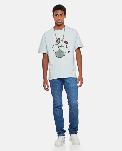 Jean printed cotton T-shirt Men Jacquemus 000293860043256 2