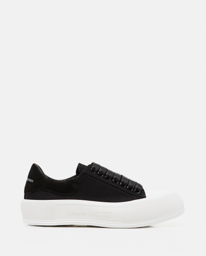 Skate Sneakers in canvas Donna Alexander McQueen 000304970044739 1