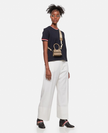 T-shirt with striped detail Women Thom Browne 000274840040464 2