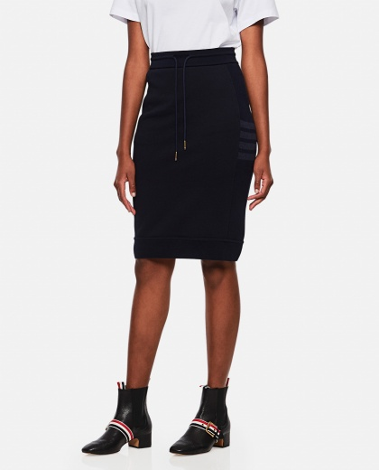 High-waisted skirt with stripes Women Thom Browne 000255120037678 1