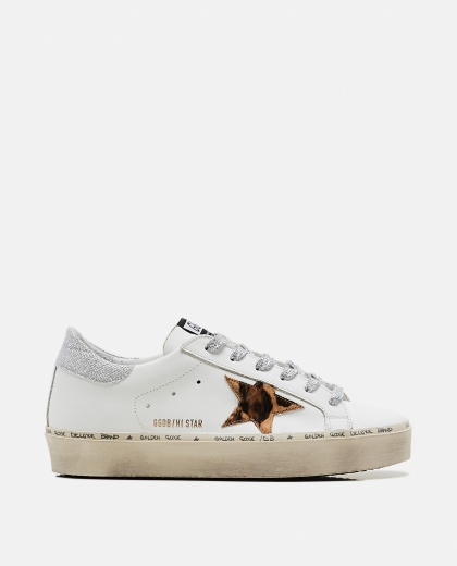 White and animalier Hi Star sneaker