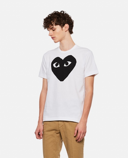 T-shirt with hearts print Men Comme des Garcons Play 000106990016295 1