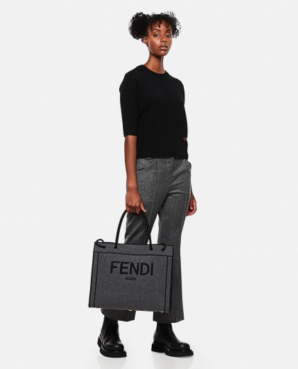 Tailored cropped trousers Women Fendi 000260890038615 2