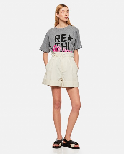 T-shirt  in jersey di cotone  Donna Golden Goose 000286480042271 2