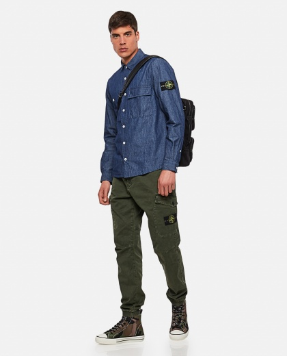 Cargo trousers in cotton Men Stone Island 000270840039876 2