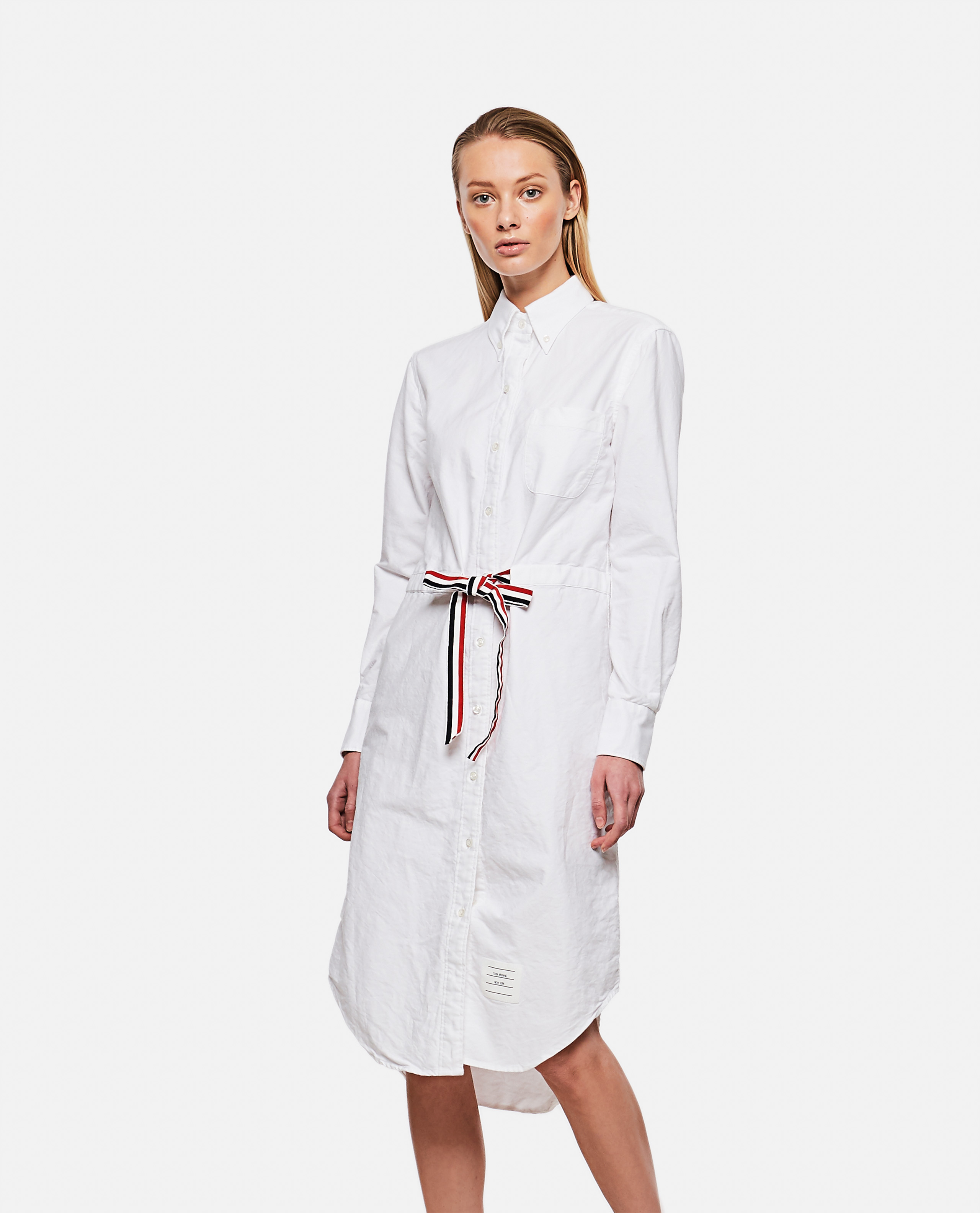 Thom Browne THOM BROWNE CHEMISIER DRESS WITH BELT