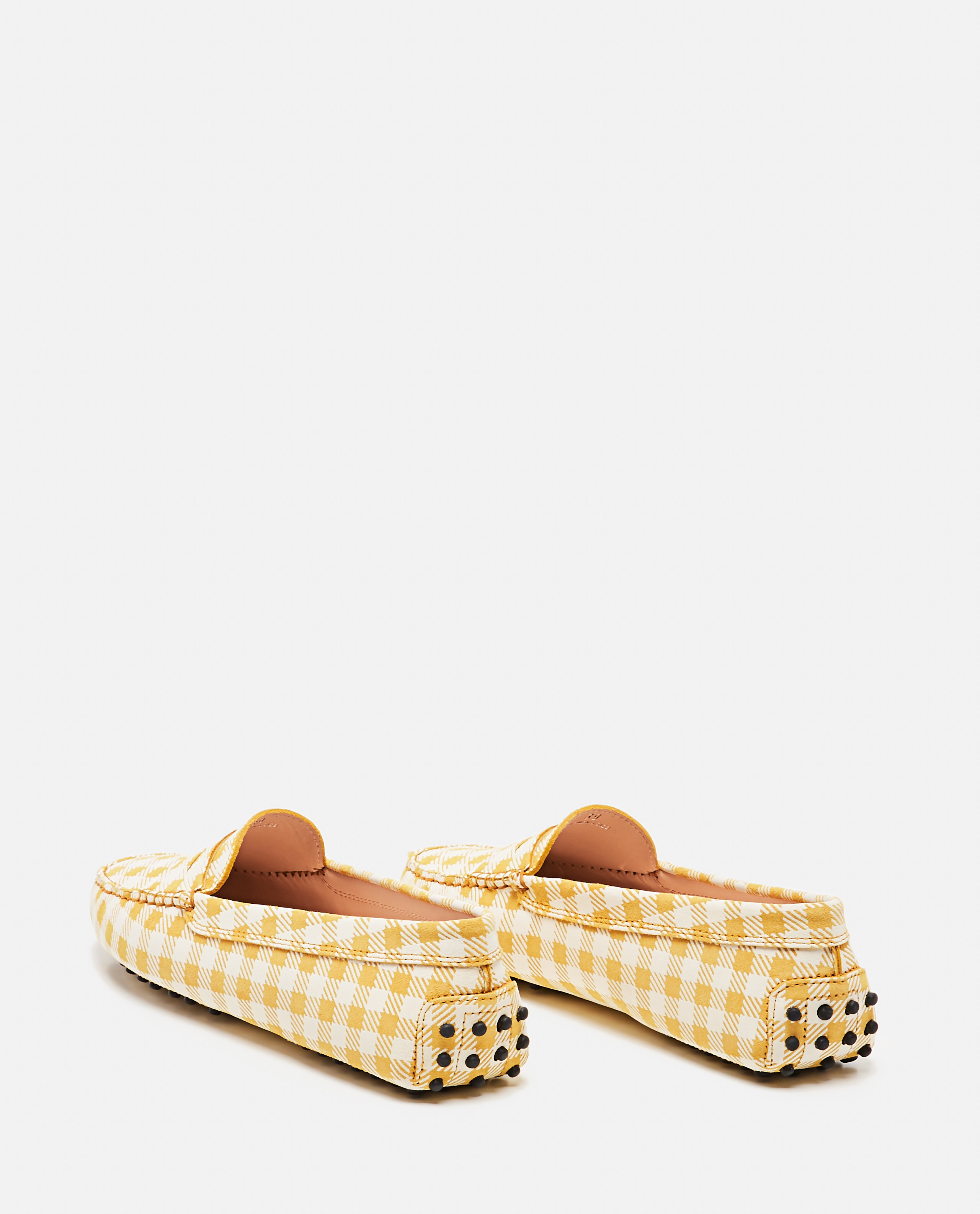 TOD'S Leathers TOD'S   LEATHER GOMMINO LOAFER WITH CHECKS PRINT