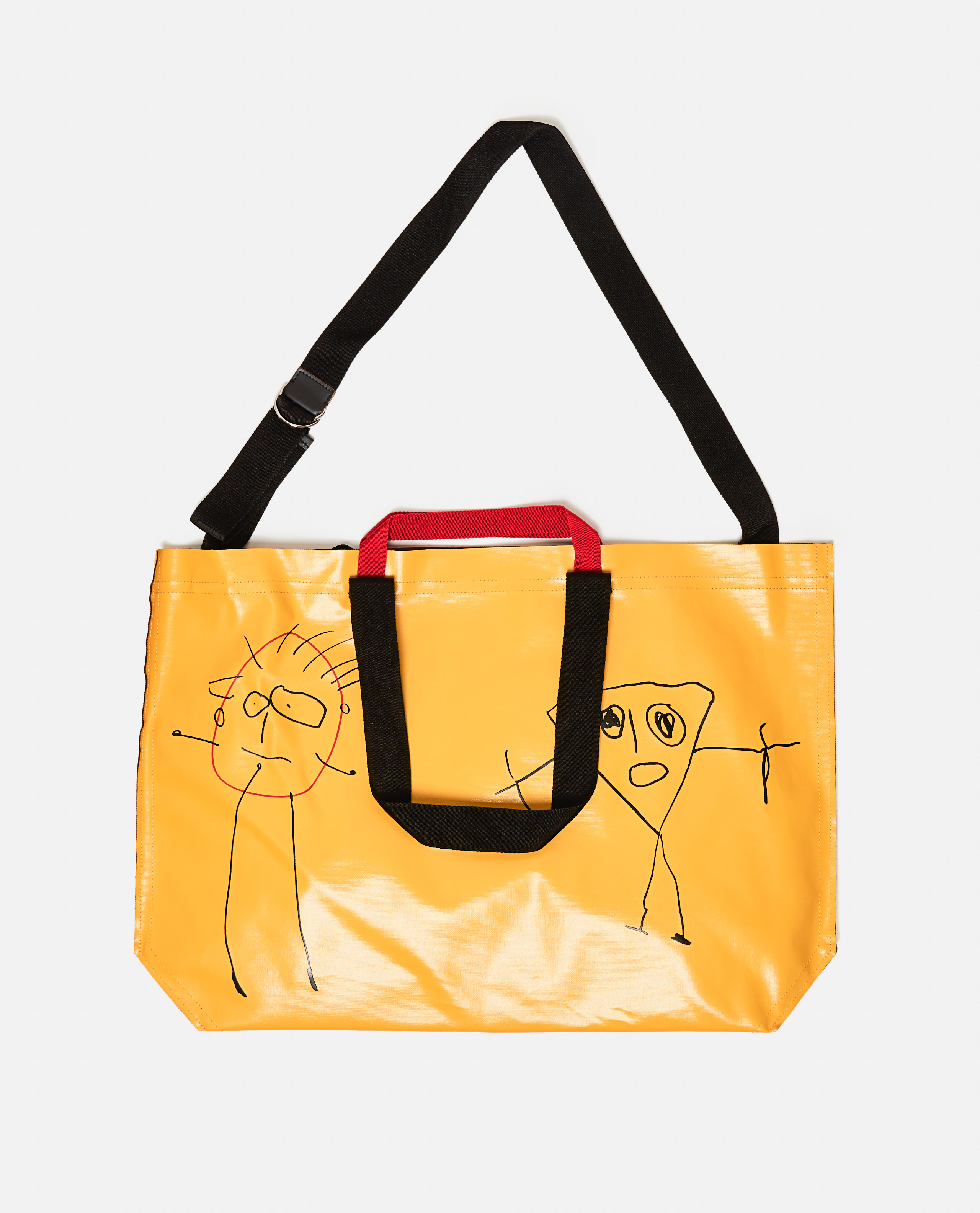 Oversized tote bag with print