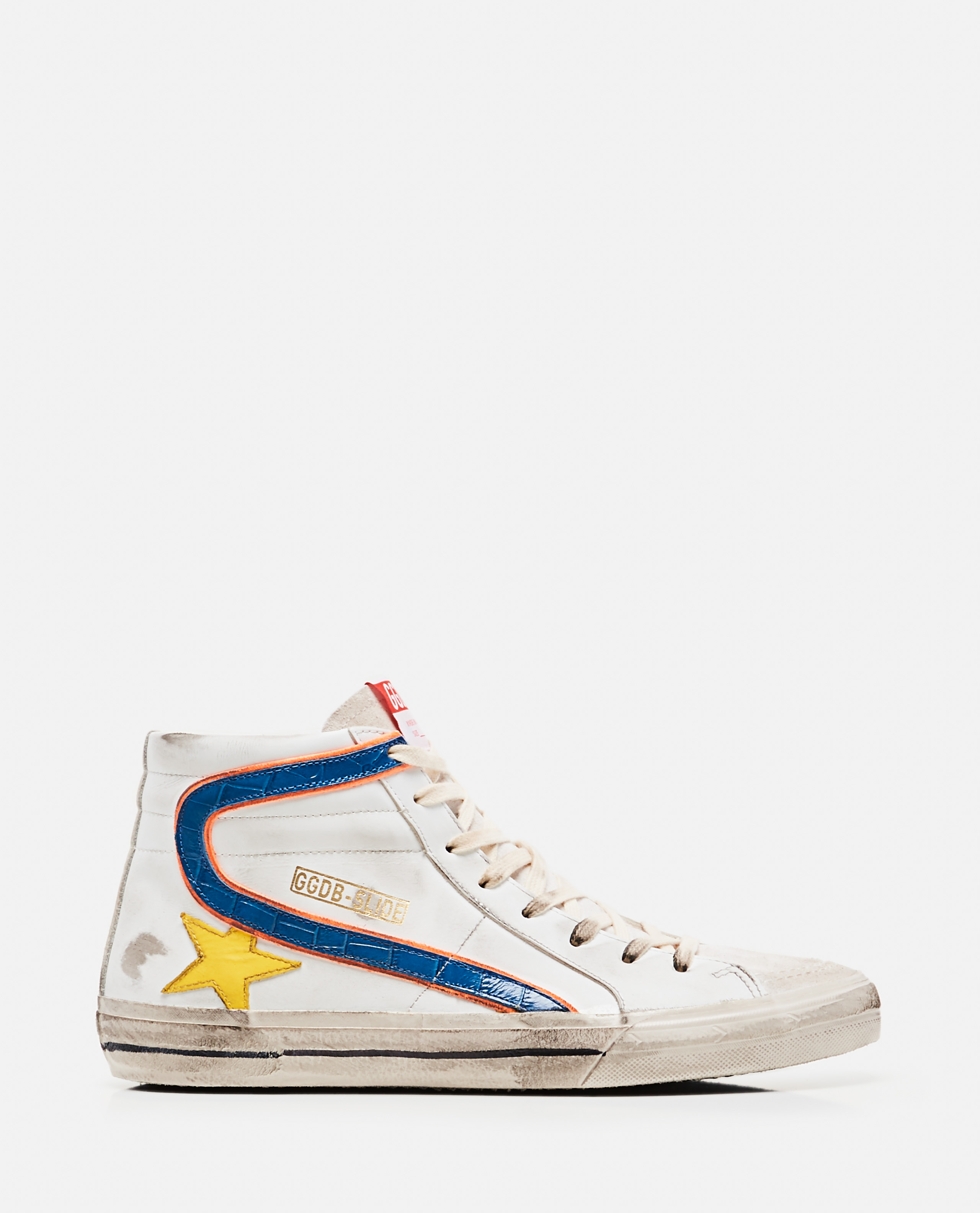 Golden Goose Leathers GOLDEN GOOSE SLIDE HIGH SNEAKERS IN LEATHER